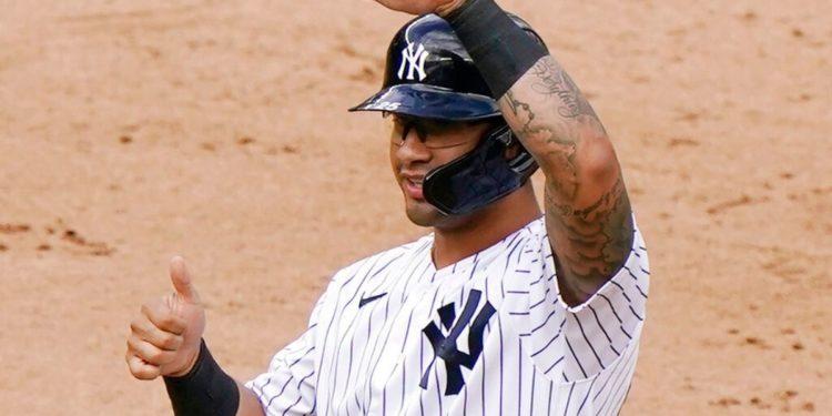 Gleyber Torres, jugador de los Yankees de Nueva York-AP