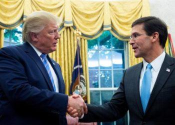 Trump y Secretario de Defensa