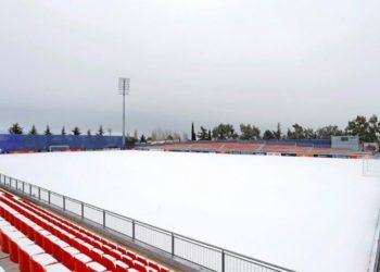 Temporal de nieve y fútbol