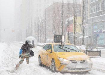 Estados Unidos y temperatura bajo cero
