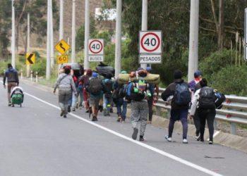 Migrantes venezolanos y Colchane